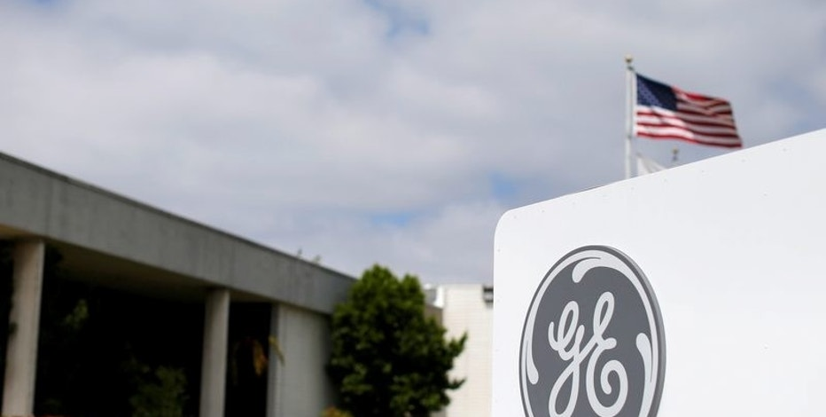 FILE PHOTO --  The logo of Dow Jones Industrial Average stock market index listed company General Electric is shown at their subsidiary company GE Aviation in Santa Ana, California April 13, 2016.  REUTERS/Mike Blake/File Photo