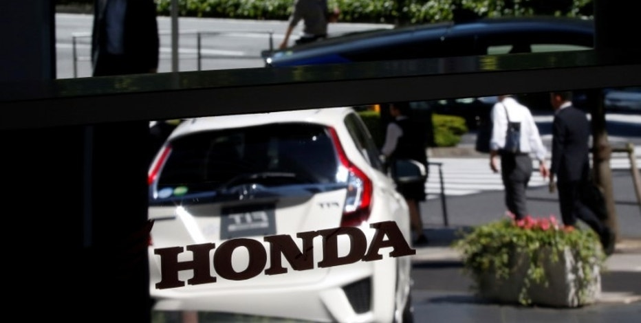 The logo of Honda Motor is pictured at the company's showroom in Tokyo, Japan, May 13, 2016.   REUTERS/Toru Hanai