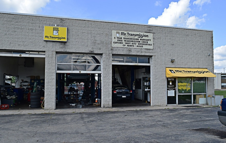A Mr. Transmission auto repair shop