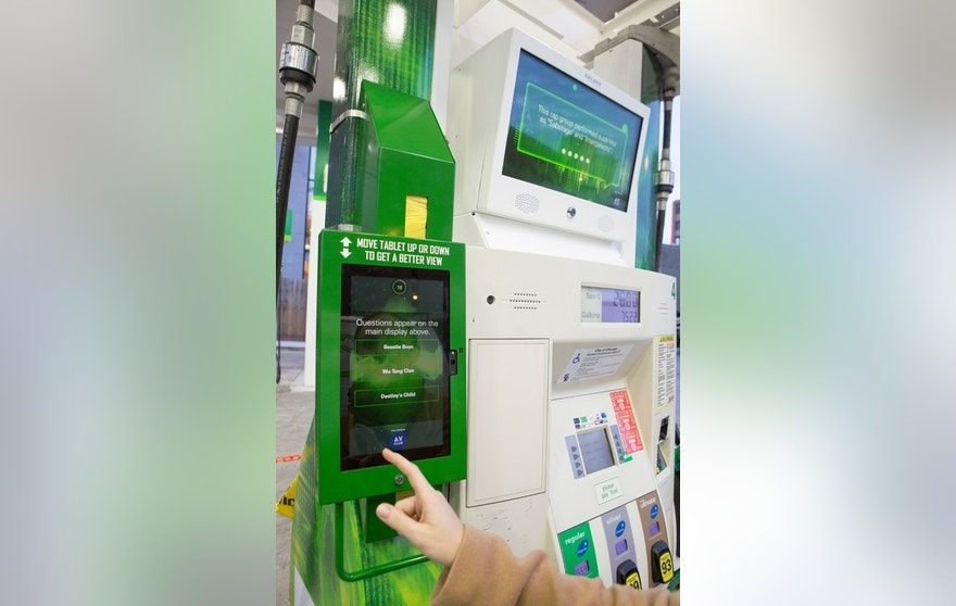 BP gas pump closeup FBN