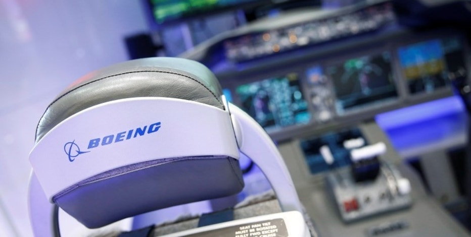Boeing's logo is seen on its KC-46 Aerial refuelling operator's station demonstrator during Japan Aerospace 2016 air show in Tokyo, Japan, October 12, 2016.   REUTERS/Kim Kyung-Hoon