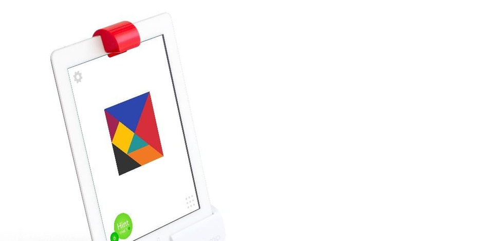 This photo provided by Osmo shows an Osmo Creative Set. Toys that teach aren't a new thing, but a growing number are calling for kids to build with blocks, circuits or everyday items before reaching for a tablet screen. (Osmo via AP)