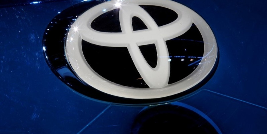 A Toyota logo is seen on media day at the Mondial de l'Automobile, the Paris auto show, in Paris, France, September 29, 2016. REUTERS/Jacky Naegelen/File Photo