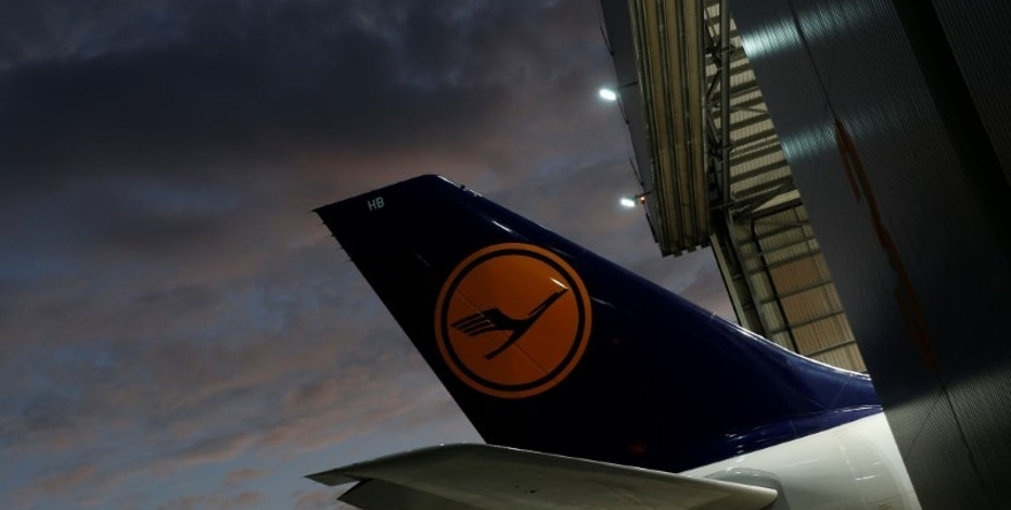 The tail of a Lufthansa airplane is seen outside a Lufthansa Technik maintenance hangar at Malta International Airport outside Valletta, Malta, November 23, 2016. REUTERS/Darrin Zammit Lupi