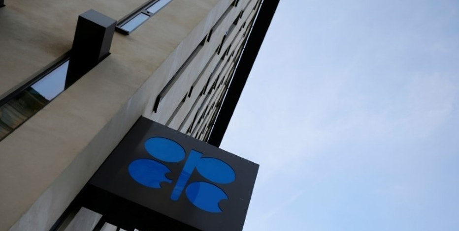 The OPEC logo is seen outside their headquarters in Vienna, Austria, October 24, 2016. REUTERS/Leonhard Foeger