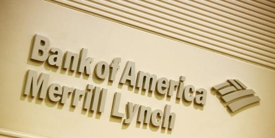 The company logo of the Bank of America and Merrill Lynch is displayed at its office in Hong Kong March 8, 2013. REUTERS/Bobby Yip