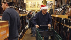 Holiday Shoppers Line Up to Buy Guns After Trump Win