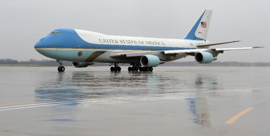 Air force One, with President Barack Obama aboard, prepares to take off from Andrews Air Force Base, Md., Tuesday, Dec. 6, 2016. President-elect Donald Trump wants the government's contract for a new Air Force One canceled.  (AP Photo/Susan Walsh)