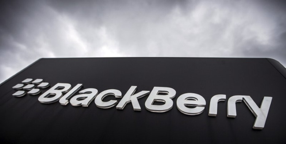 A Blackberry sign is seen in front of their offices on the day of their annual general meeting for shareholders in Waterloo, Canada June 23, 2015. REUTERS/Mark Blinch