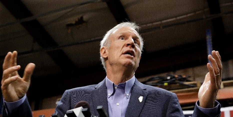 FILE - In this Nov. 16, 2016 file photo, Illinois Gov. Bruce Rauner speaks in Springfield, Ill. Rauner usually takes questions from reporters after press conferences, but in recent months he's also begun hosting Facebook Live events, answering questions from the public about policies he's advocating for during his budget struggle with Democrats. A strategy that's been used by more tech-savvy states and increasingly becoming popular among new-to-politics officeholders, such as President-elect Donald Trump, who needs only Twitter to share his thoughts. (AP Photo/Seth Perlman File)