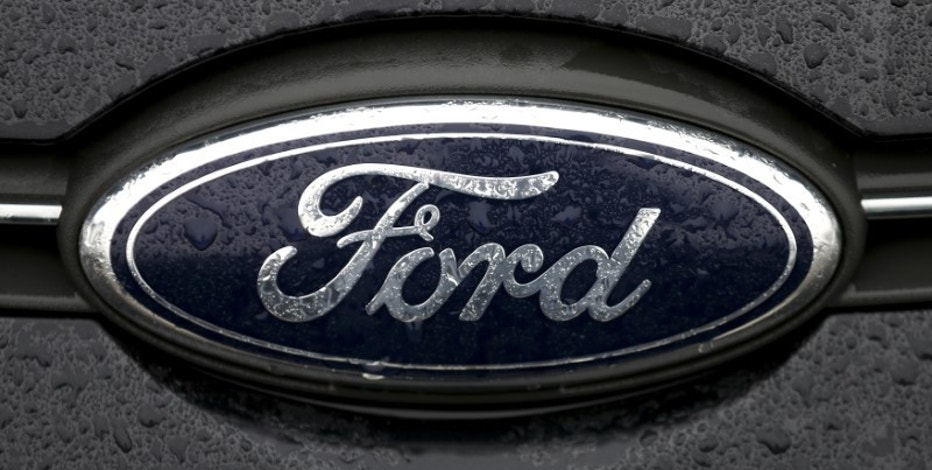 The Ford logo is pictured at the Ford Motor Co plant in Genk December 17, 2014. REUTERS/Francois Lenoir