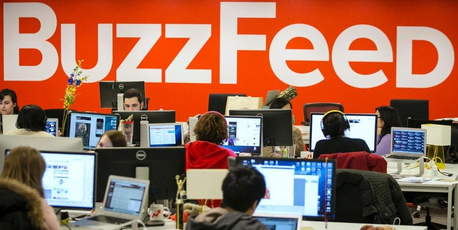 Buzzfeed employees work at the company's headquarters in New York January 9, 2014. BuzzFeed has come a long way from cat lists. This month one of its journalists was on the ground in Kiev reporting on the crisis in Ukraine, and last December it published an in-depth article on a Chinese dissident living in Harlem, New York. The kittens haven't disappeared, but these days there is serious journalism as well. Founded in 2006, BuzzFeed is now among the top 10 most-visited news and information sites in the United States. Headquartered in New York, BuzzFeed now has more than 150 journalists, an investigative reporting unit, bureaus in Australia and the United Kingdom, and foreign correspondents in far-flung places like Nairobi and the Middle East. Its expansion comes amid a wave of investor interest in new media companies that are trying to capitalize on a decade-long wave of job cuts at newspapers, and new technology that has upended how news and advertising are produced and distributed. To match Feature USA-MEDIA/BUZZFEED  Picture taken January 9, 2014.  REUTERS/Brendan McDermid (UNITED STATES - Tags: MEDIA BUSINESS SCIENCE TECHNOLOGY)