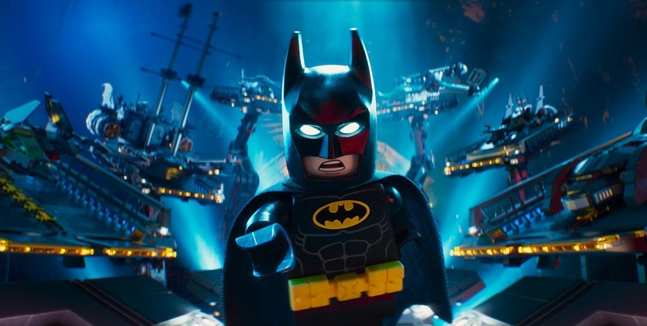 "This image released by Warner Bros. Pictures shows Batman, voiced by Will Arnett, in a scene from ""The LEGO Batman Movie."" (Warner Bros. Pictures via AP)"