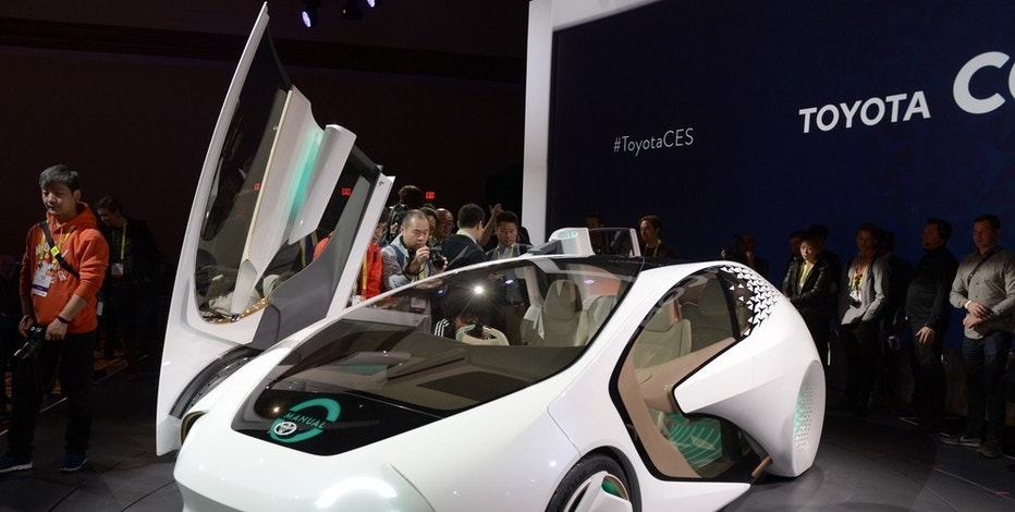 The Toyota prototype Concept-i, a self-driving car with artificial intelligence, on display at the CES Technology Expo in Las Vegas, USA, 04 January 2016. Photo by: Andrej Sokolow/picture-alliance/dpa/AP Images
