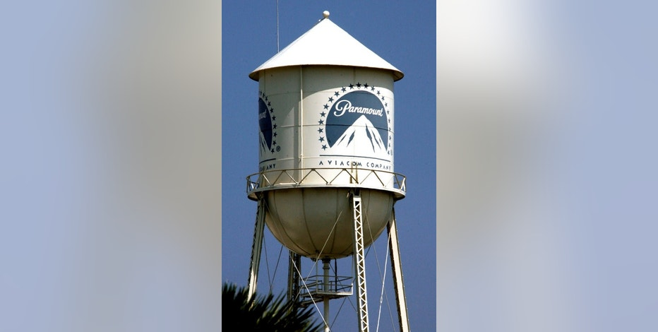 FILE PHOTO --  The water tower at Paramount Pictures Studios, a division of Viacom, Inc. is pictured in Los Angeles, California July 29, 2008. REUTERS/Fred Prouser/File Photo