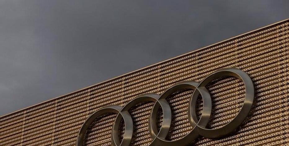 The logo of German car manufacturer Audi is seen at a building of a car dealer in Duebendorf, Switzerland November 22, 2016.    REUTERS/Arnd Wiegmann