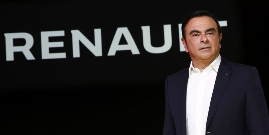 Renault Chief Executive Carlos Ghosn delivers a speech during the official presentation of the new Renault RS16 car at the company's research center, the Technocentre, in Guyancourt, near Paris, France, February 3, 2016. REUTERS/Benoit Tessier