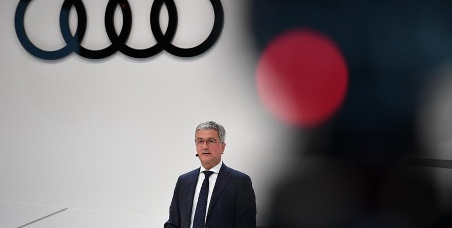 Audi CEO, Rupert Stadler gives a speech at the company's annual newsconference in Ingolstadt, Germany, March 15, 2017.      REUTERS/Lukas Barth
