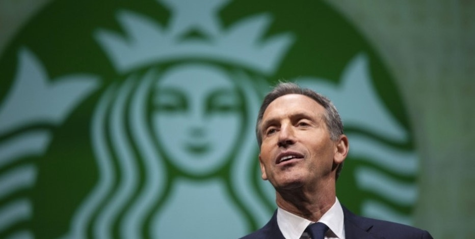 Howard Schultz, CEO of Starbucks, speaks during the company's annual shareholders meeting in Seattle, Washington March 19, 2014. REUTERS/David Ryder