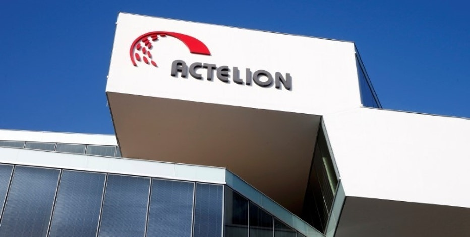FILE PHOTO: The company's logo is seen at the headquarters of Swiss biotech company Actelion in Allschwil, Switzerland January 26, 2017. REUTERS/Arnd Wiegmann