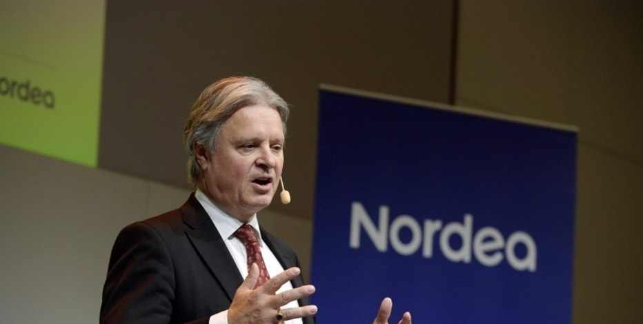 Casper von Koskull, CEO and president of Nordea Bank, presents the banks fourth quarter and full year results 2016 during a presser in Stockholm, Sweden, January 26, 2017. TT NEWS AGENCY/Janerik Henriksson via REUTERS