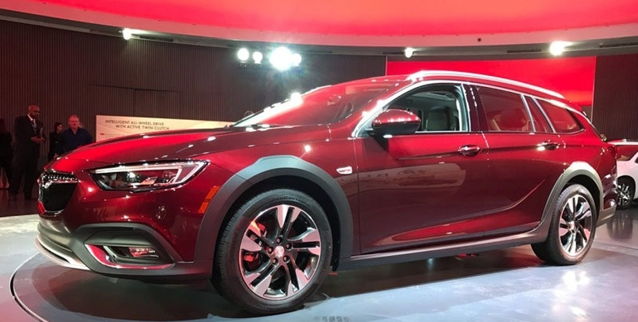 General Motors Co unveiled a new Buick model called the TourX aimed at Volvo and Subaru's wagons in the United States market in Detroit, Michigan, U.S., April 4, 2017.  REUTERS/Joe White
