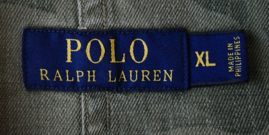 A close up picture shows the label of U.S. fashion designer Ralph Lauren inside a jacket at a fashion shop in Frankfurt, Germany, March 15, 2016.    REUTERS/Kai Pfaffenbach