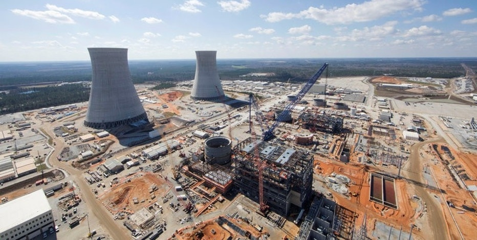 FILE PHOTO: The Vogtle Unit 3 and 4 site, being constructed by primary contactor Westinghouse, a business unit of Toshiba, near Waynesboro, Georgia, U.S. is seen in an aerial photo taken February 2017.  Georgia Power/Handout