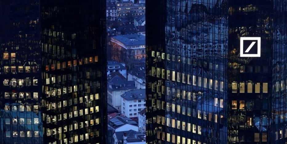 FILE PHOTO - The headquarters of Germany's Deutsche Bank are seen early evening in Frankfurt, Germany January 31, 2017. REUTERS/Kai Pfaffenbach/File Photo