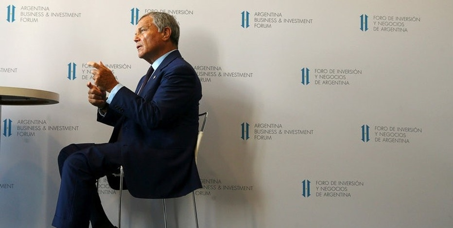FILE PHOTO: Sir Martin Sorrell, Chairman and Chief Executive Officer of WPP, the world's largest advertising company, speaks during an interview with Reuters at the Argentina Business and Investment Forum 2016 in Buenos Aires, Argentina, September 13, 2016. REUTERS/Marcos Brindicci/File Photo