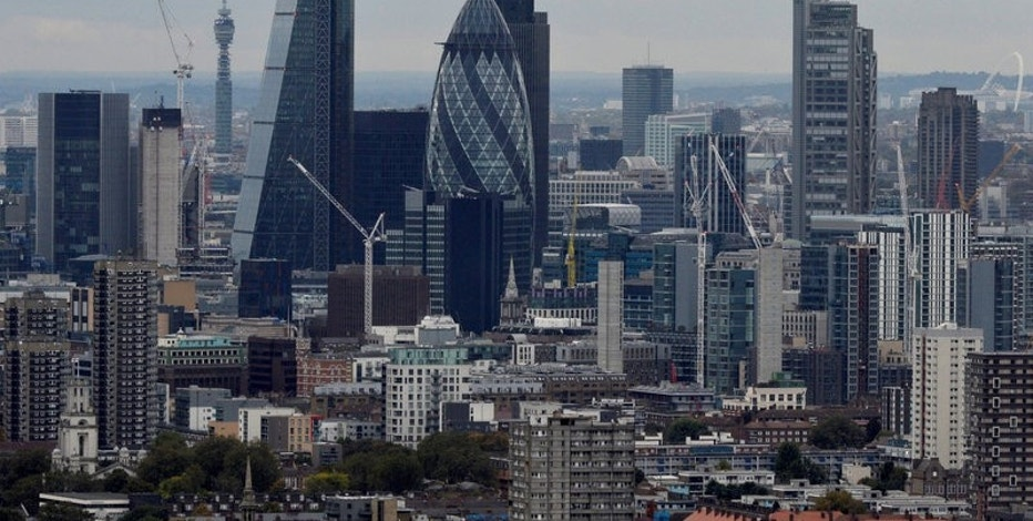 FILE PHOTO: A general view of the financial district of London is seen in London, Britain, October 19, 2016. REUTERS/Hannah McKay/File Photo
