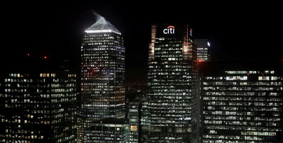 FILE PHOTO: The Citibank building is seen in the financial district of Canary Wharf in London, Britain January 19, 2017. REUTERS/Kevin Coombs/File Photo