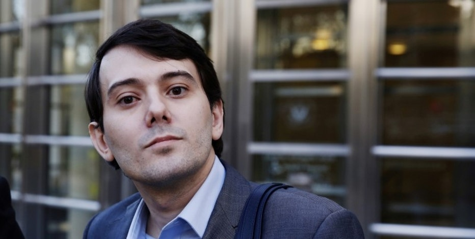 FILE PHOTO - Martin Shkreli, former chief executive officer of Turing Pharmaceuticals and KaloBios Pharmaceuticals Inc, departs after a hearing at U.S. Federal Court in Brooklyn, New York, U.S. on October 14, 2016. REUTERS/Lucas Jackson/File Photo