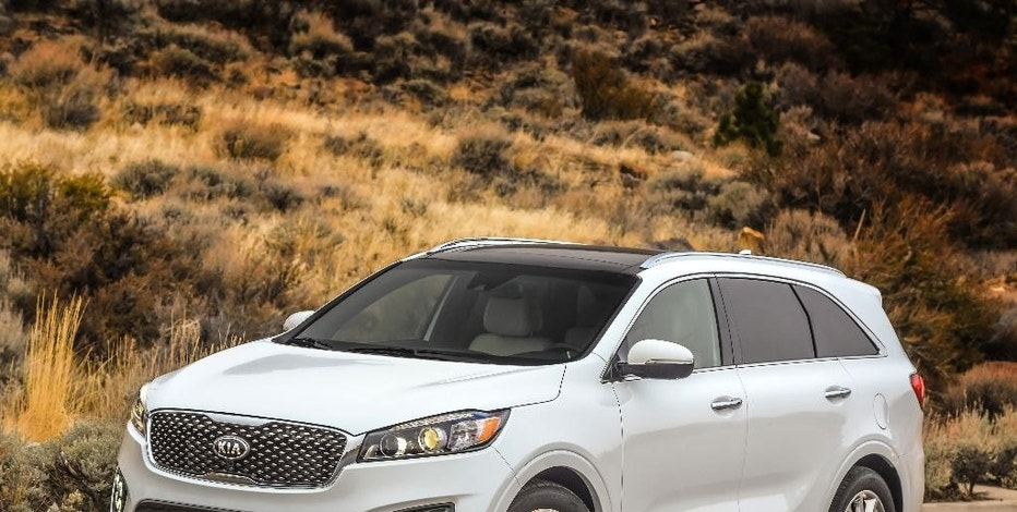This photo provided by Kia Motors America shows the 2017 Sorento. The Kia Sorento adds connectivity and safety features for 2017 while remaining one of the most affordable SUVs of its size. (Kia Motors America via AP)