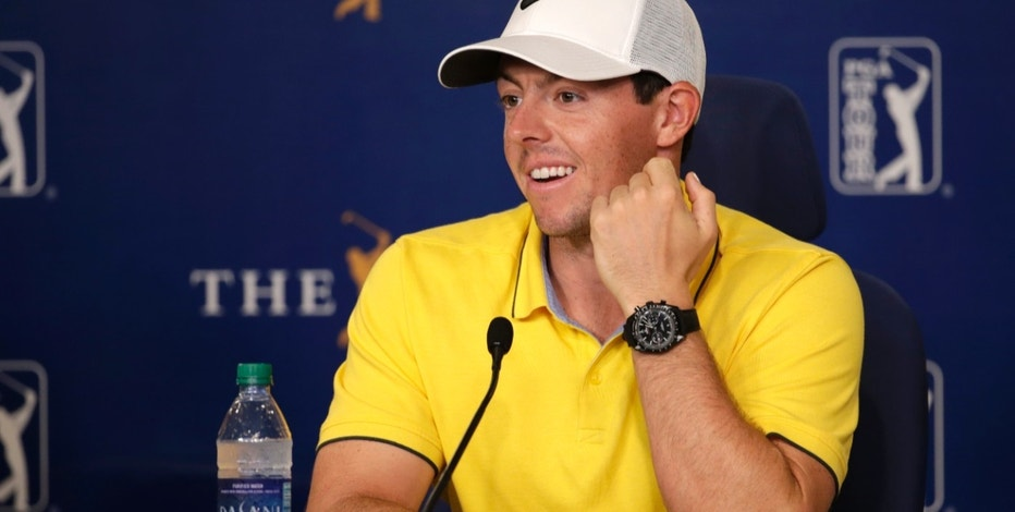 Rory McIlroy, of Northern Ireland, responds to a question during a news conference at The Players Championship golf tournament, Wednesday, May 11, 2016, in Ponte Vedra Beach, Fla. (AP Photo/Lynne Sladky)