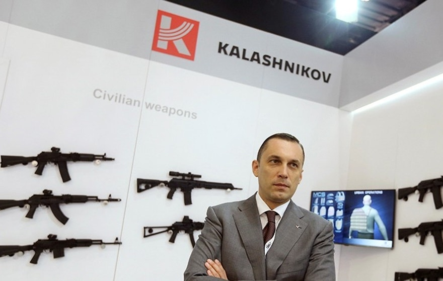 Alexey Krivoruchko, CEO of Kalashnikov Group, poses for a photograph during an interview with Reuters in Abu Dhabi, United Arab Emirates February 21, 2017. REUTERS/Stringer - RTSZM7X
