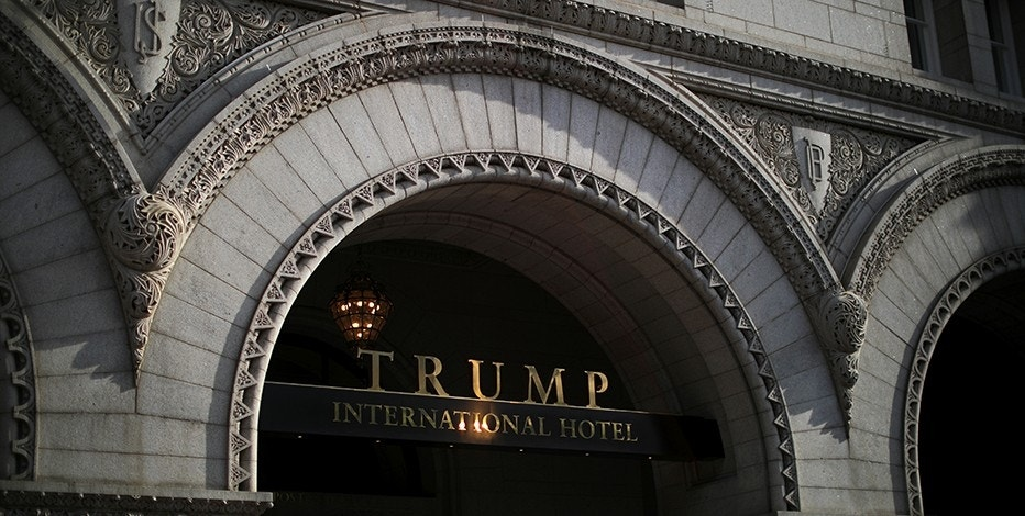 The entrance of Trump International Hotel is seen in downtown Washington, U.S., June 28, 2017. REUTERS/Carlos Barria - RTS191DA