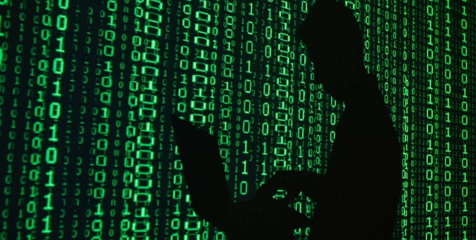 An illustration picture shows a projection of binary code around the shadow of a man holding a laptop computer in an office in Warsaw June 24, 2013. REUTERS/Kacper Pempel (POLAND - Tags: BUSINESS TELECOMS)