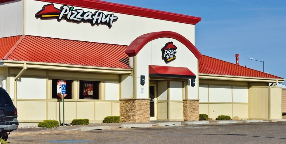 Santa Fe, New Mexico, USA - March 18, 2013: A Pizza Hut location in Santa Fe. Pizza Hut is an international chain of restaurants and a subsidiary of Yum! Brands, Inc..