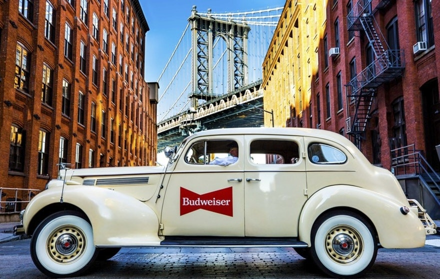 Budweiser is Unveiling a Fleet of Vintage Cars in Manhattan in Partnership with Lyft on Wednesday, October 25 (PRNewsfoto/Budweiser)