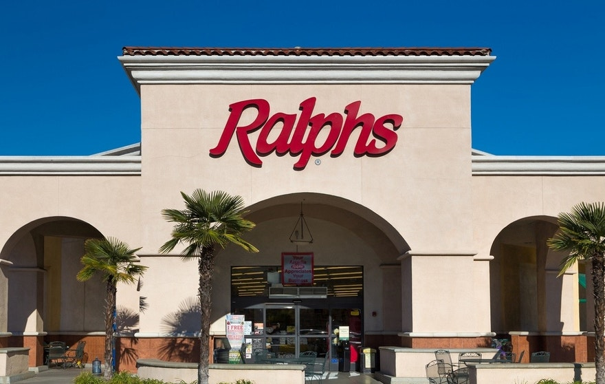Pasadena, United States - November 22, 2015: Ralphs grocery store sign. Ralphs is a major supermarket chain in the Southern California area and the largest subsidiary of Cincinnati-based Kroger.