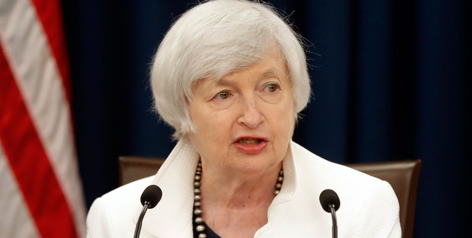 In this Wednesday, Sept. 20, 2017, file photo, Federal Reserve Chair Janet Yellen speaks at a news conference following the Federal Open Market Committee meeting in Washington.