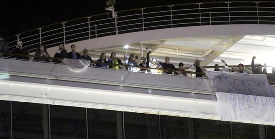 Passengers on the Carnival Triumph, which was stranded for days without power in the Gulf of Mexico in February.