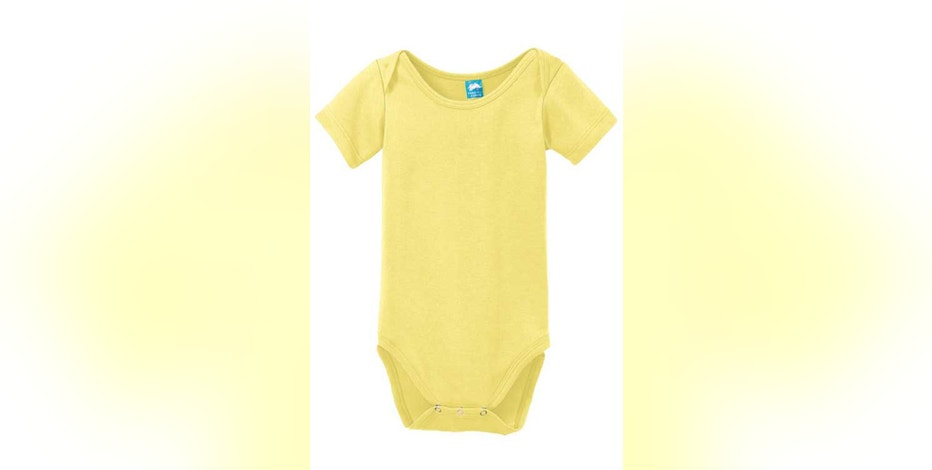 This photo provided by the United States Consumer Product Safety Commission shows a Precious Cargo infant one-piece garment that is being recalled because the snaps on the one-piece garment can detach, posing a choking hazard to young children. (Courtesy of United States Consumer Product Safety Commission via AP)