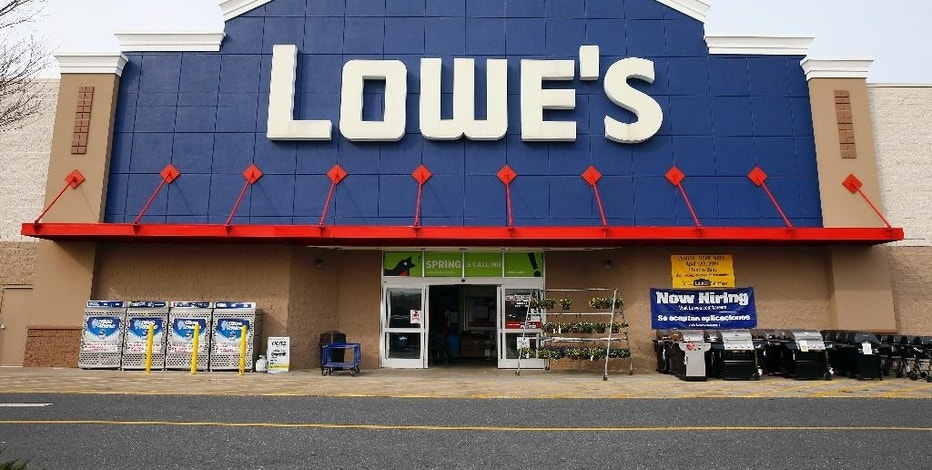 FILE - This March 25, 2014, file photo, shows a Lowe's store in Philadelphia. Lowe's Cos. reports quarterly earnings on Wednesday, Aug. 19, 2015. (AP Photo/Matt Rourke, File)