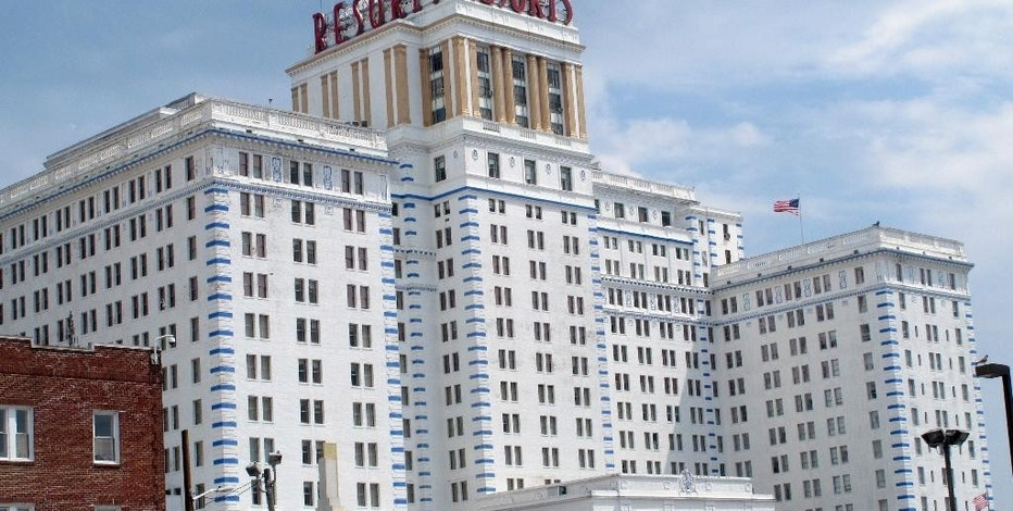 This Aug. 25, 2015 photo shows the exterior of Resorts Casino Hotel in Atlantic City, N.J. On Wednesday, Aug. 26, resorts will open a $9.4 million expansion of its meeting and conference space, the latest milestone in the casino's return to profitability after nearly shutting down five years ago. (AP Photo/Wayne Parry)