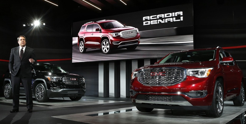 2017 GMC Acadia, Detroit Auto Show, General Motors, GM