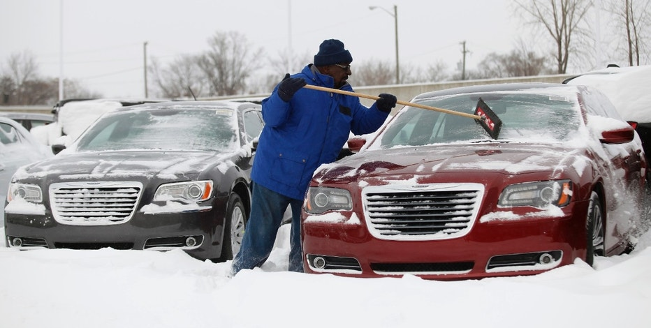 Chrysler car dealer and snow FBN