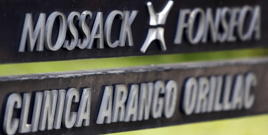 A company list showing the Mossack Fonseca law firm is pictured on a sign at the Arango Orillac Building in Panama City April 3, 2016. REUTERS/Carlos Jasso       TPX IMAGES OF THE DAY      - RTSDELI