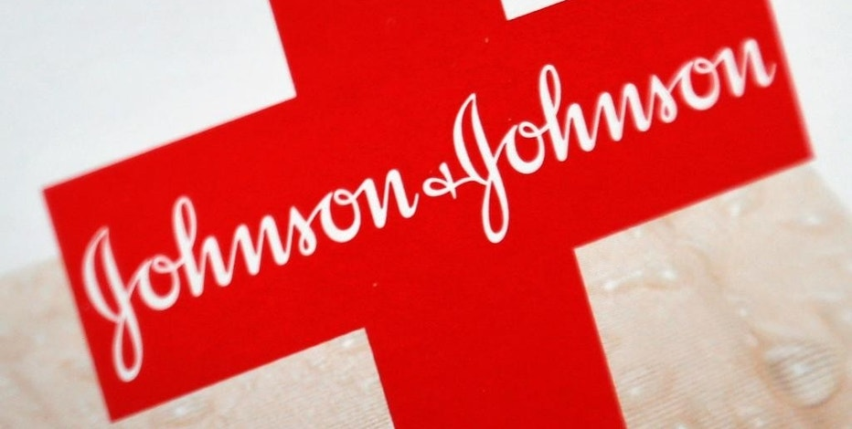 FILE - This Oct. 16, 2012 file photo shows the Johnson & Johnson logo on a package of Band-Aids, in St. Petersburg, Fla. Johnson & Johnson reports quarterly financial results on Tuesday, July 14, 2015. (AP Photo/Chris O'Meara, File)